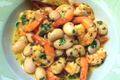 Warm Prawn Scampi And Butter Bean Salad